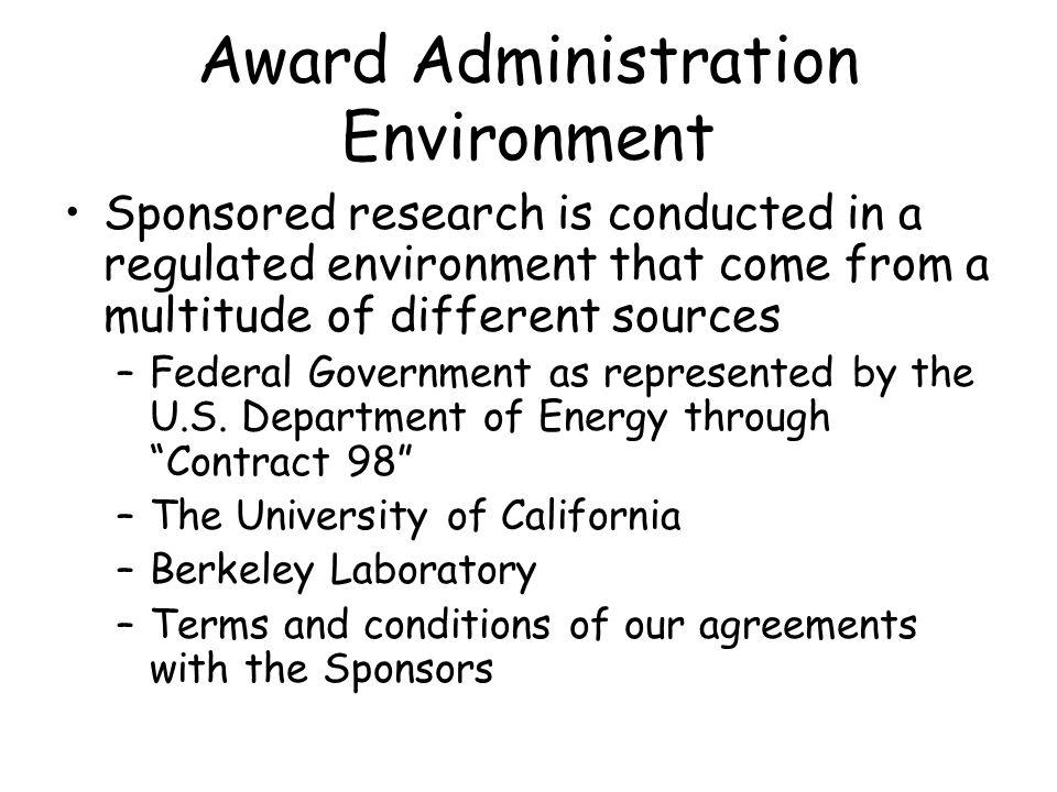 Award Expiration and Closeout Managing Award expiration and closeout was reviewed at the RAPID Meeting on 3/19/04.