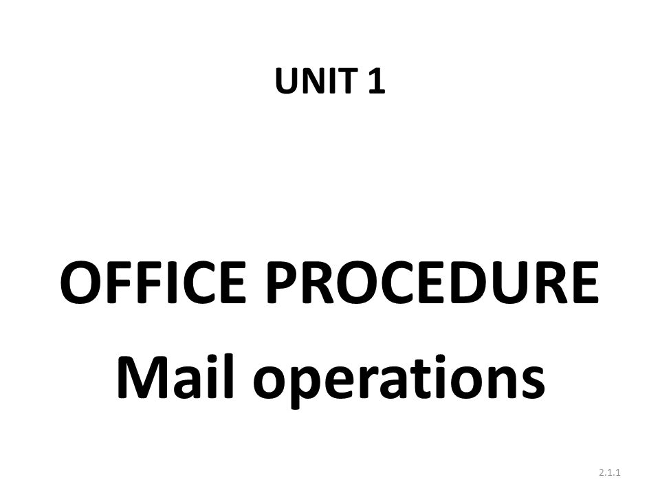 * Role of MTS in Post office T o collect mails from ST Depot.