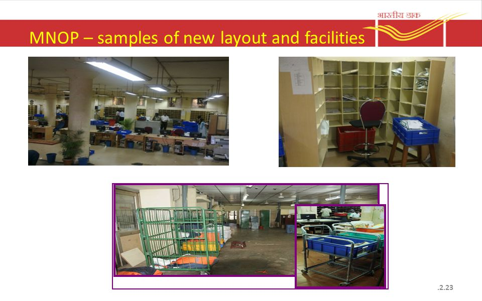 MNOP – samples of new layout and facilities.2.23