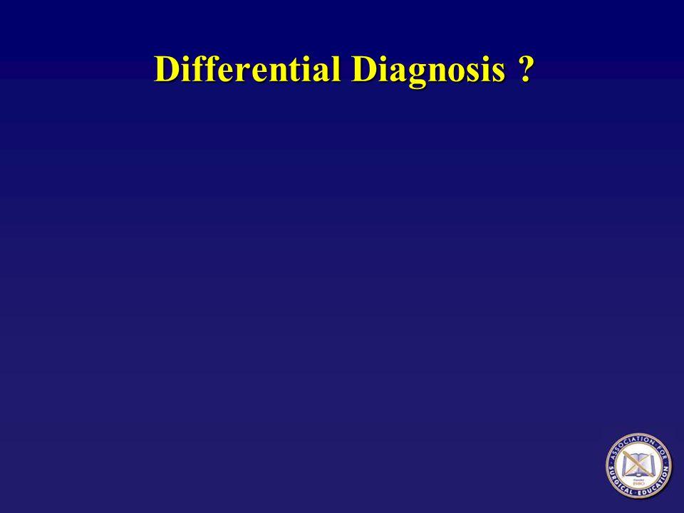 Differential Diagnosis Based on History and Presentation  Pulmonary embolism  Aspiration pneumonitis  Myocardial infarction  Heart failure / Pulmonary Edema  Pneumothorax  ARDS