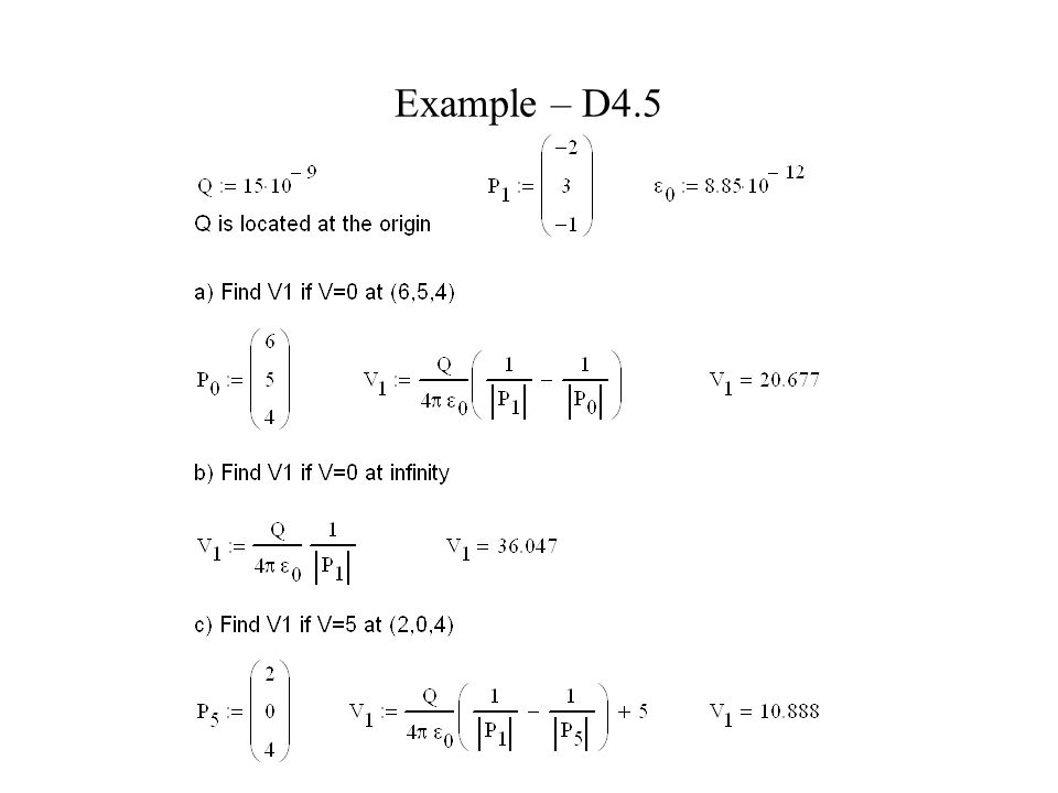 Example – D4.5