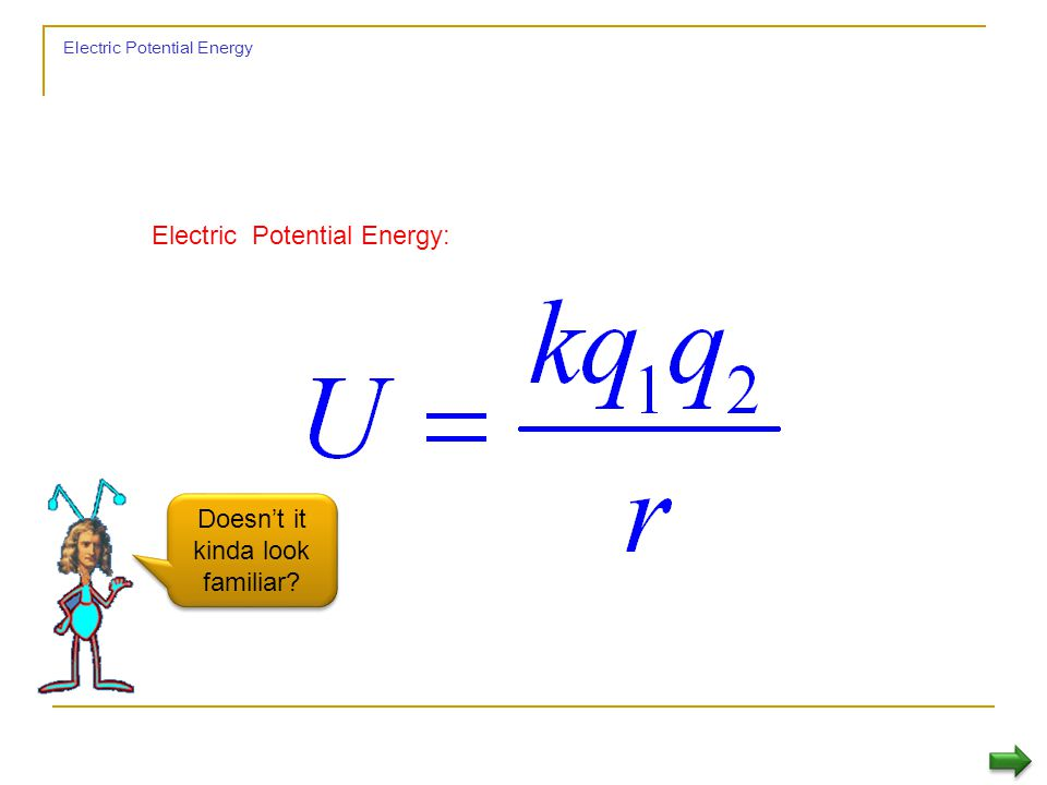 If you want to move in a region of electric field without changing your electric potential energy.