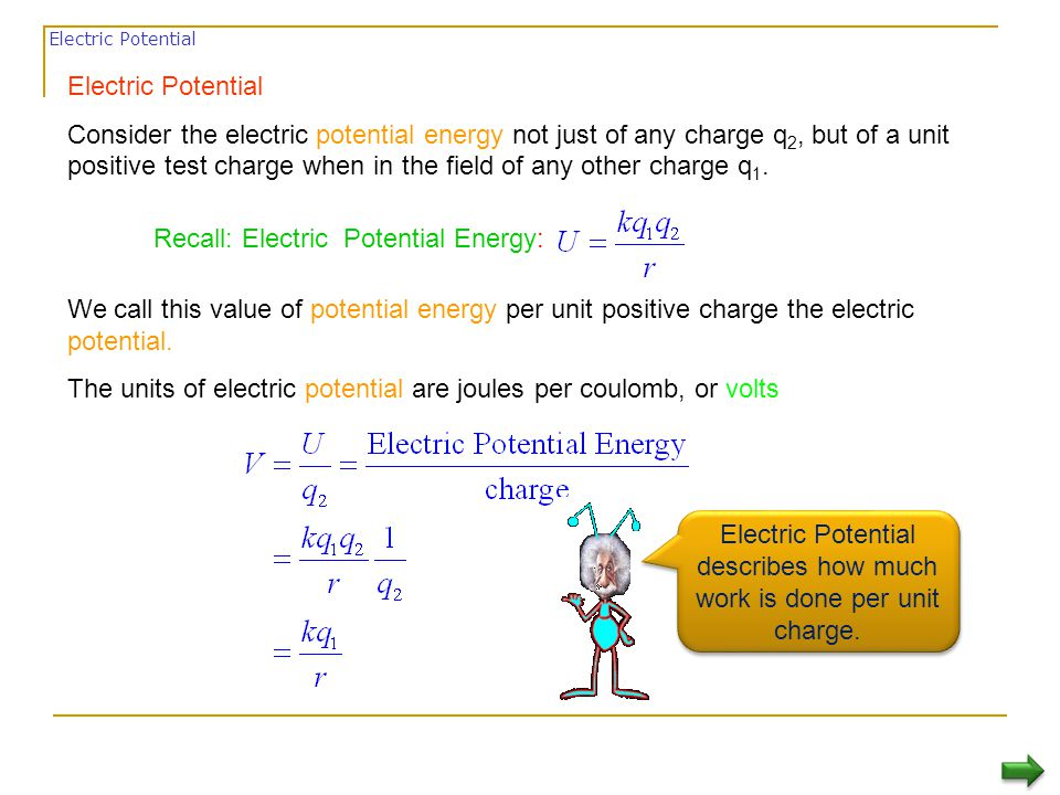  To get a positive test charge from lower potential to higher potential you need to invest energy - you need to do work.