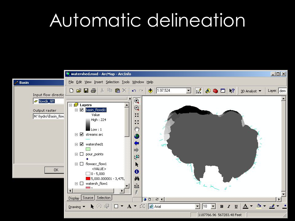 Automatic delineation