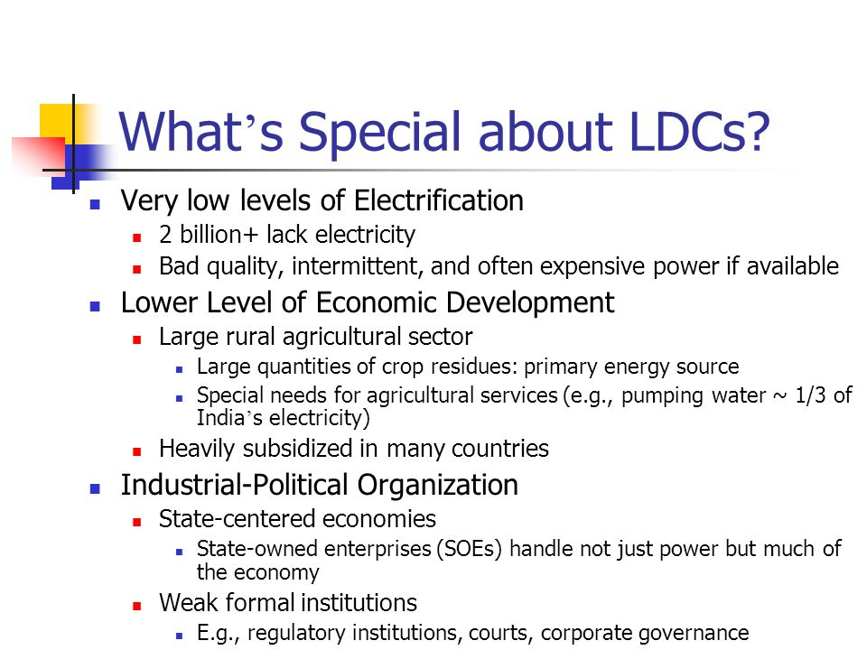 Rahul Tongia, CMU4 What ' s Special about LDCs.