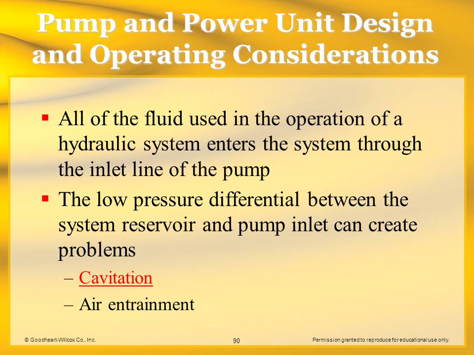 © Goodheart-Willcox Co., Inc.Permission granted to reproduce for educational use only. 90 Pump and Power Unit Design and Operating Considerations  Al