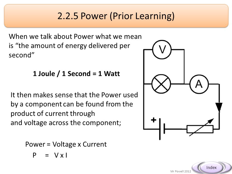Mr Powell 2012 Index c) explain how a fuse works as a safety device (HSW 6a);