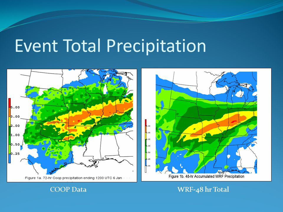 Event Total Precipitation COOP DataWRF-48 hr Total