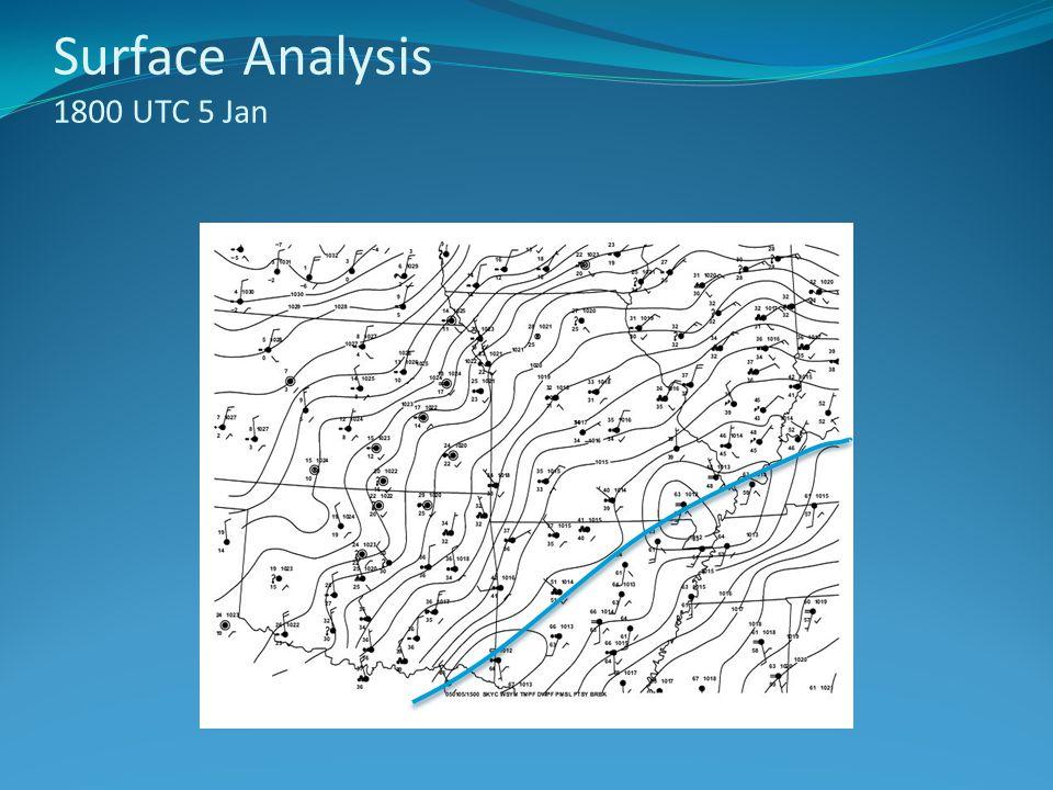 Surface Analysis 1800 UTC 5 Jan