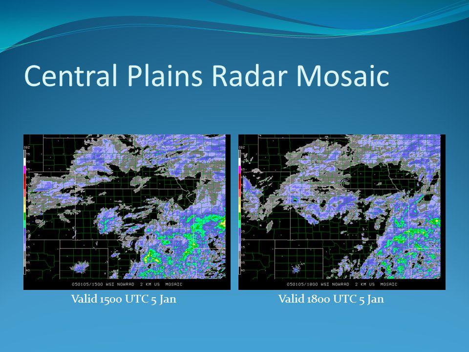Central Plains Radar Mosaic Valid 1500 UTC 5 JanValid 1800 UTC 5 Jan