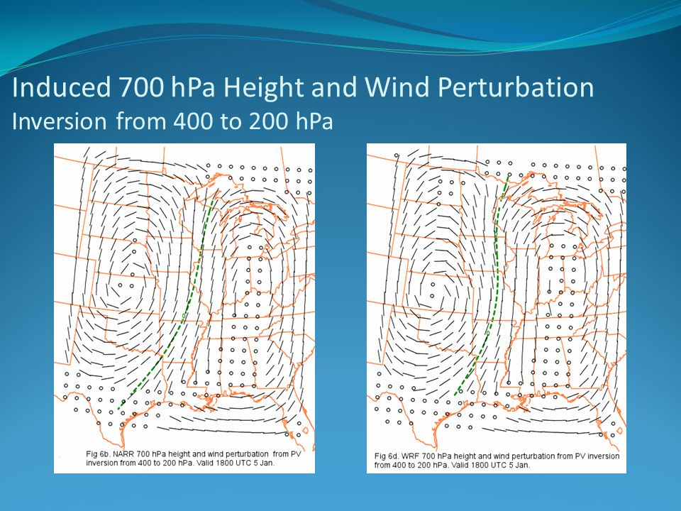 Induced 700 hPa Height and Wind Perturbation Inversion from 400 to 200 hPa