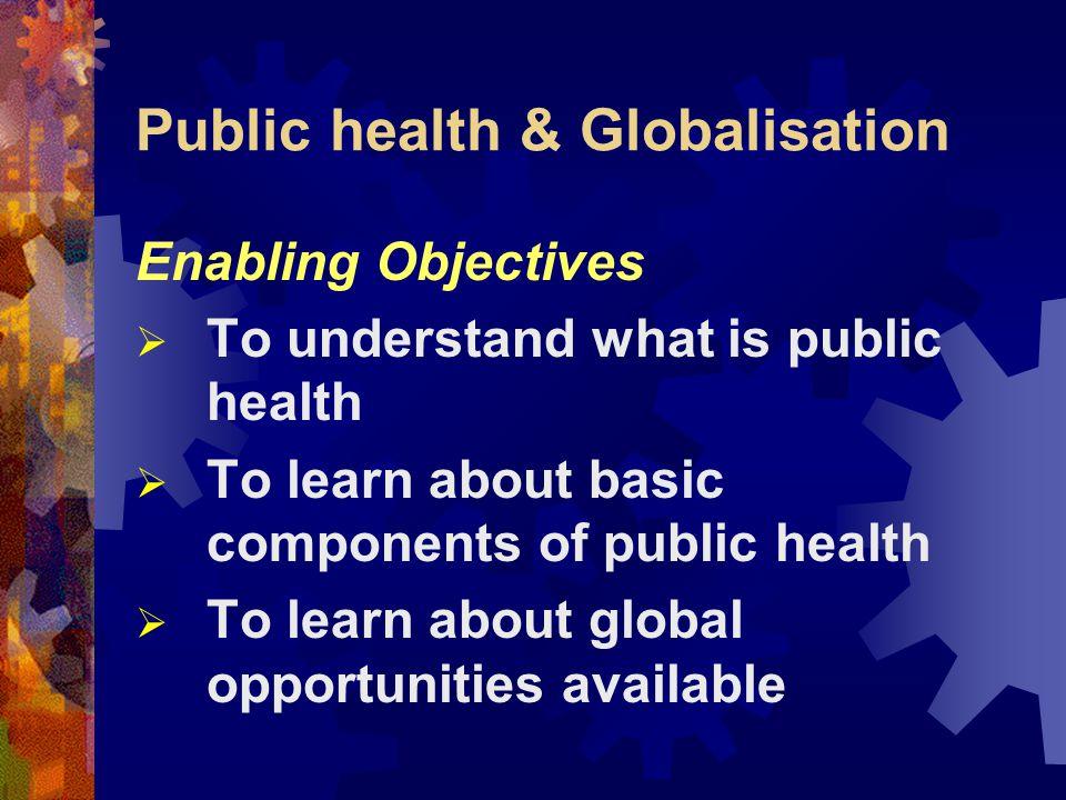 Public health & Globalisation Dr. Babar T Shaikh The Aga Khan University Karachi, Pakistan