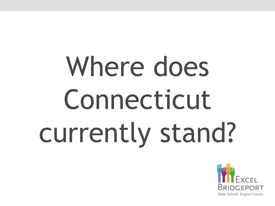 Where does Connecticut currently stand