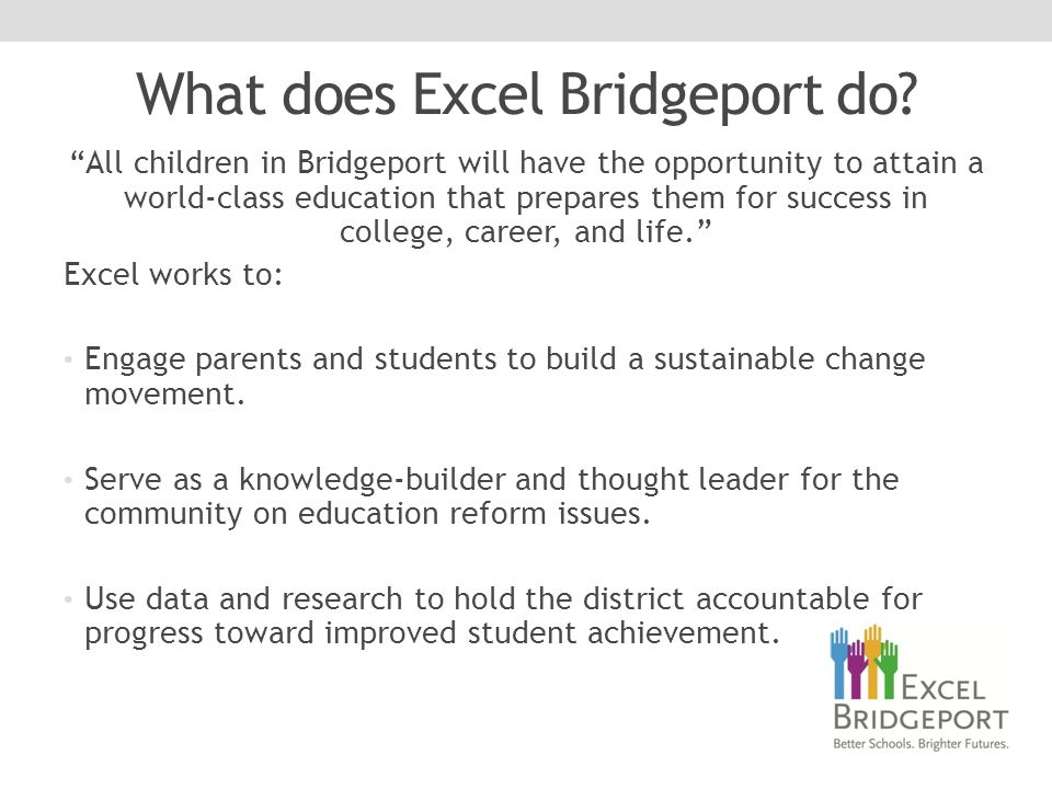 What does Excel Bridgeport do.