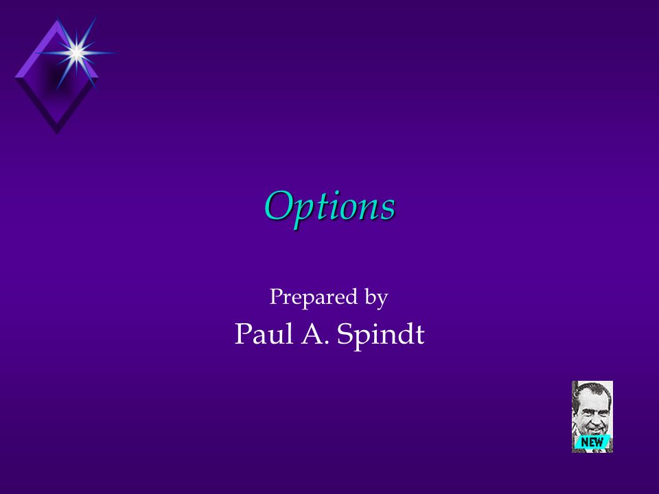 Options Prepared by Paul A. Spindt