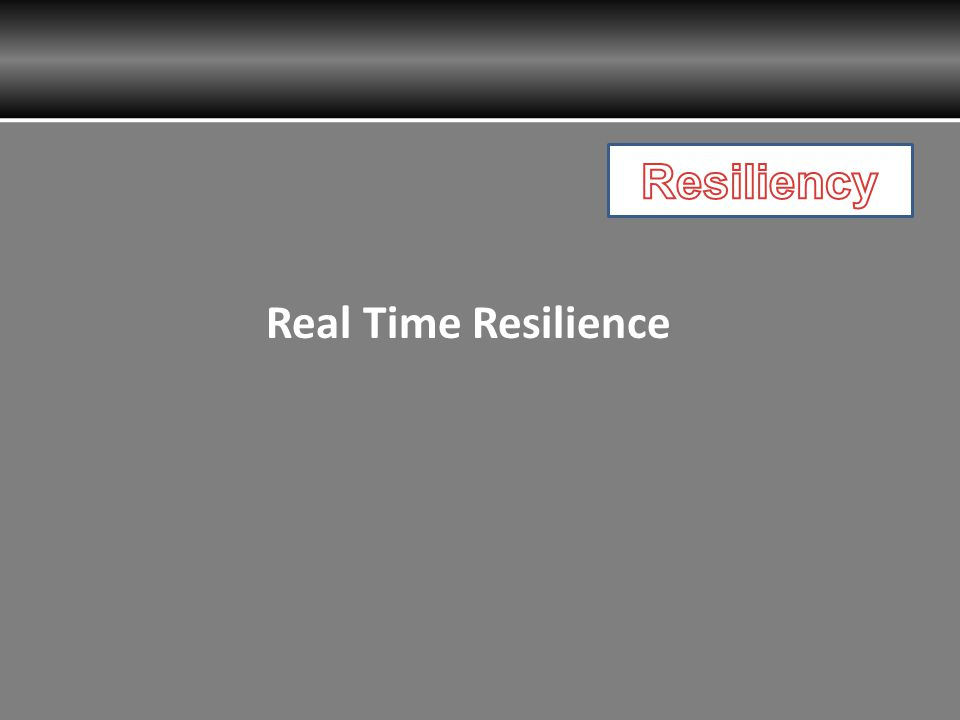 Real Time Resilience