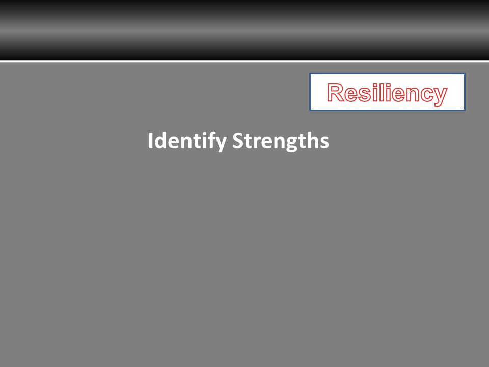 Identify Strengths