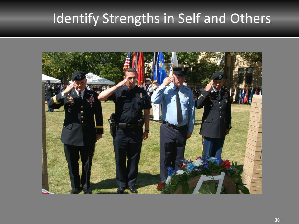 Identify Strengths in Self and Others 38