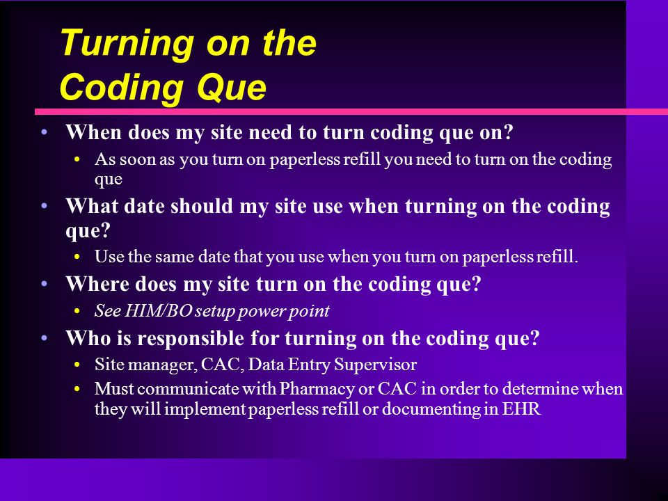 Turning on the Coding Que When does my site need to turn coding que on.