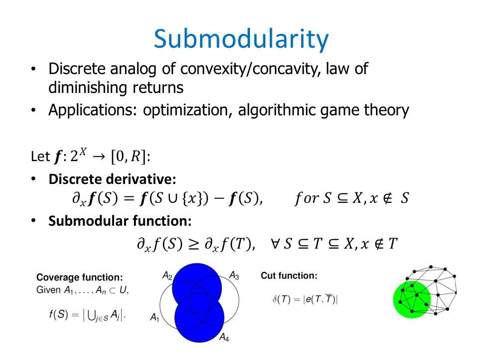 Submodularity