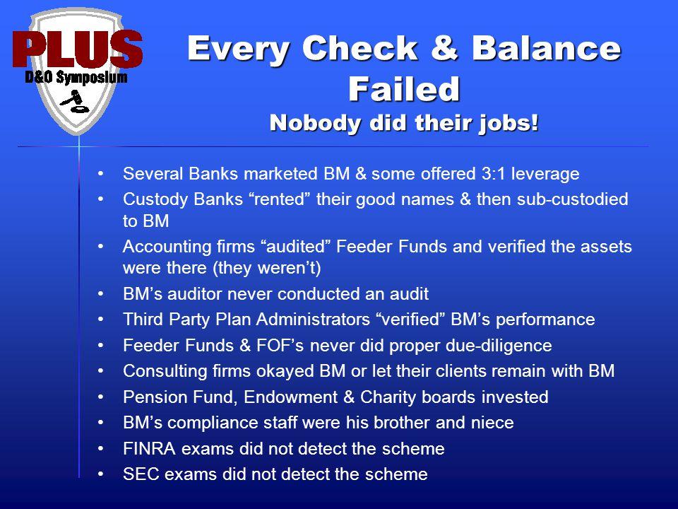 Every Check & Balance Failed Nobody did their jobs.