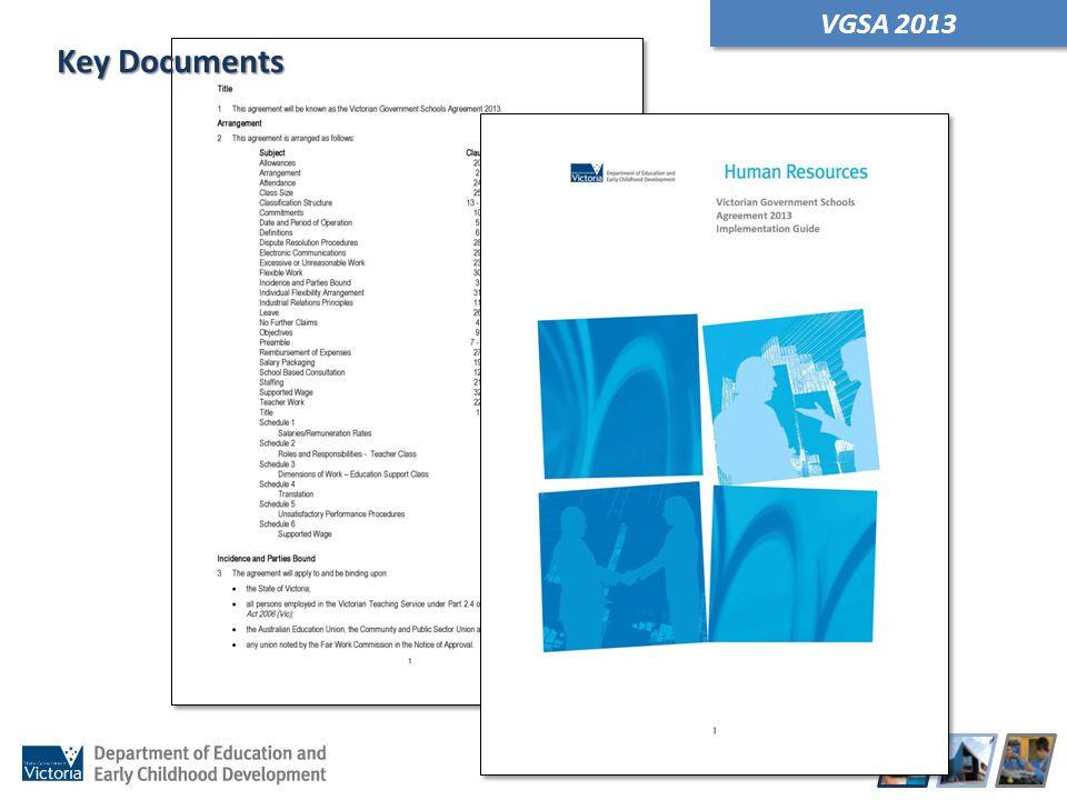 VGSA 2013 Key Documents