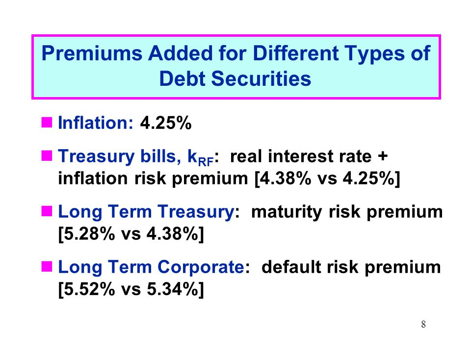 9 Usefulness of Government Bond Yields Treasury securities yields are often used to describe term structure of interest rates and to chart yield curves Term structure: the relationship between interest rates (or yields) and maturities A graph of the term structure is called the yield curve