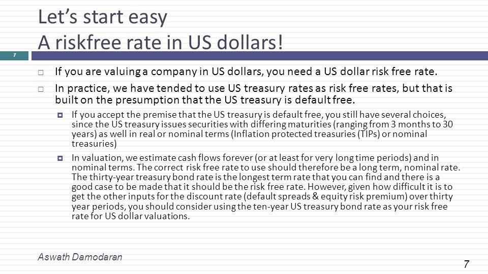 8 A Riskfree Rate in Euros Aswath Damodaran 8