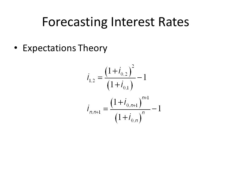 Forecasting Interest Rates Expectations Theory