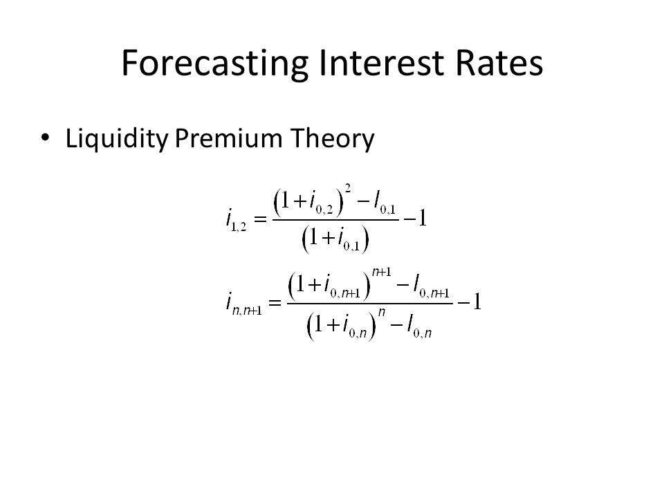 Forecasting Interest Rates Liquidity Premium Theory