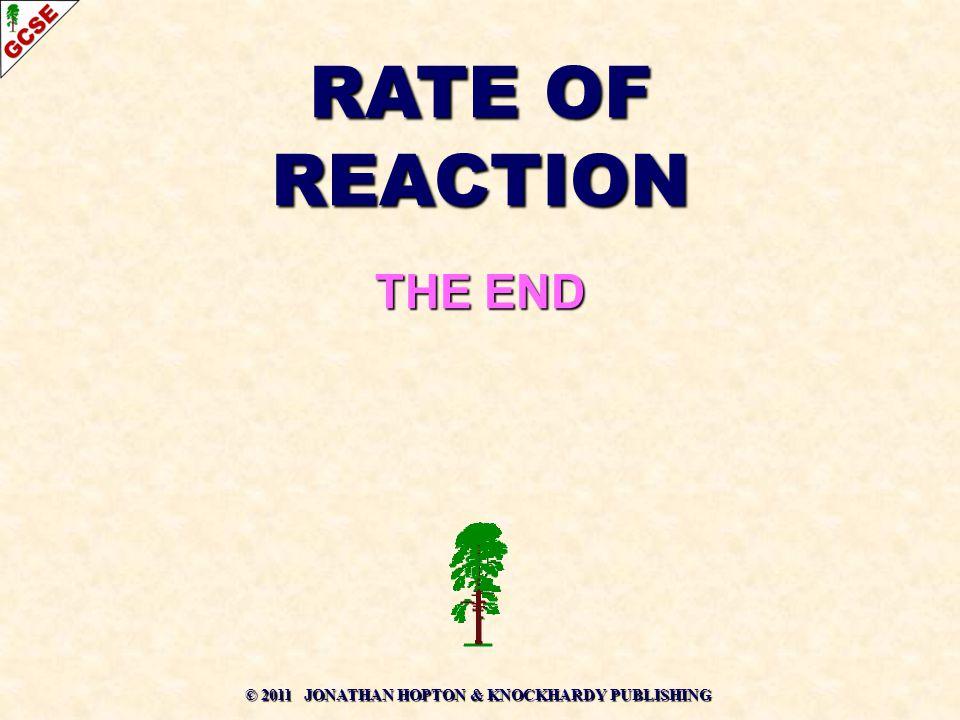 © 2011 JONATHAN HOPTON & KNOCKHARDY PUBLISHING RATE OF REACTION THE END