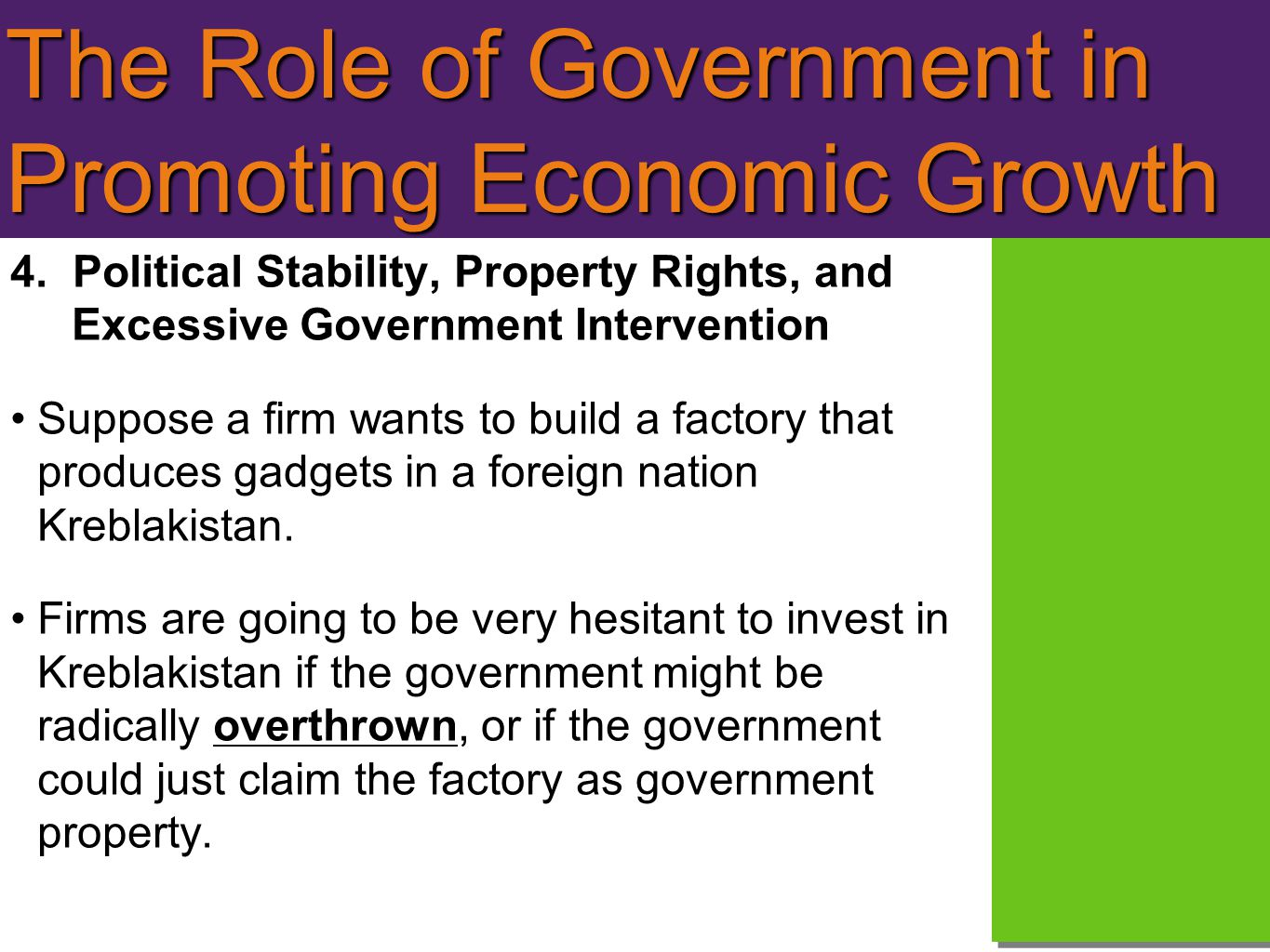 The Role of Government in Promoting Economic Growth 4.