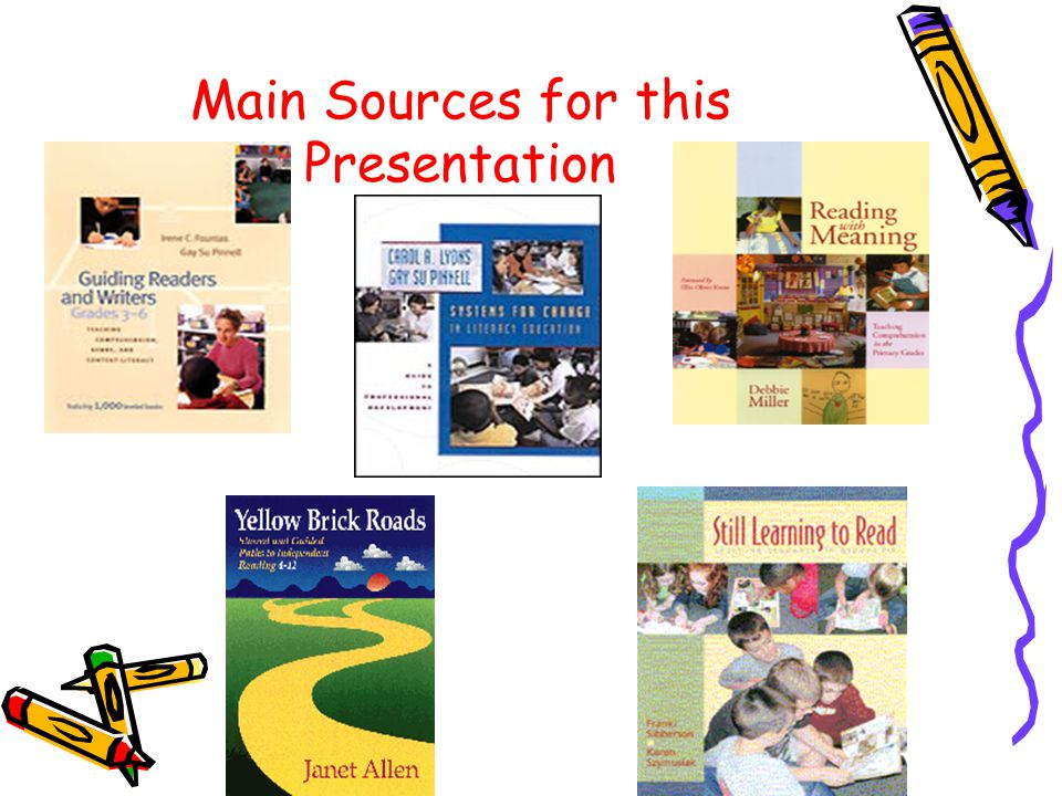 Guided Reading and Literacy Place The sections of the Teachers' Sourcebooks that are labeled Guided Reading do not fit the critical attributes that we have discussed today.
