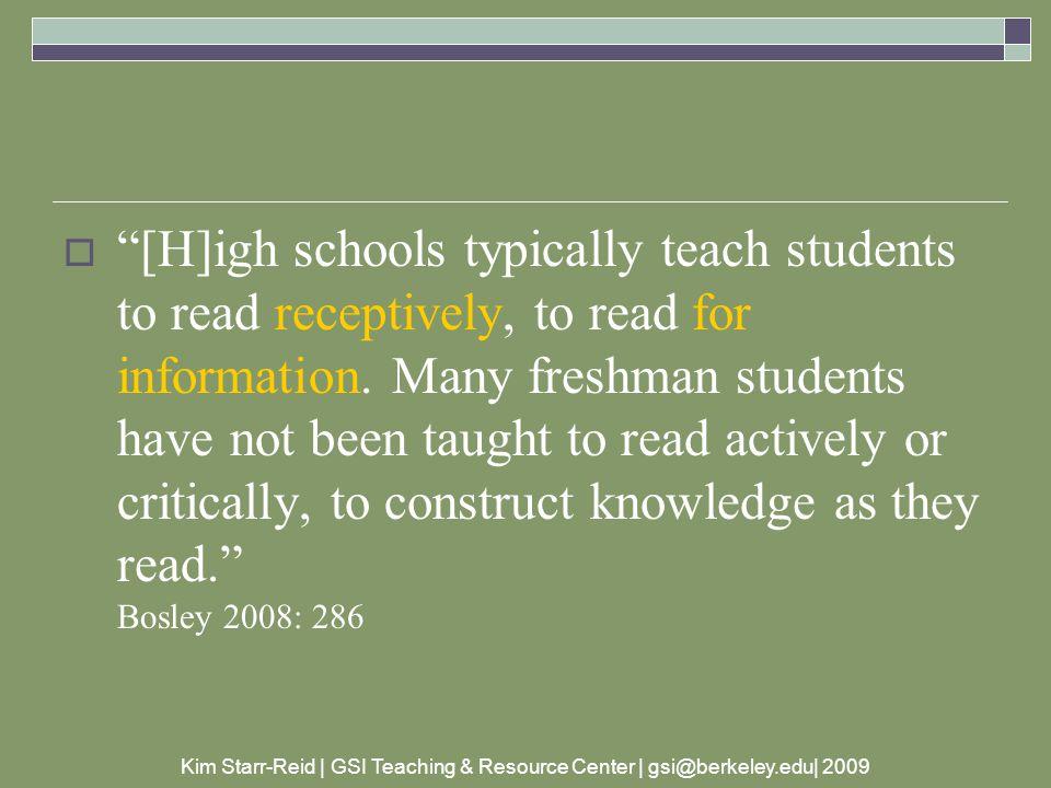 Kim Starr-Reid | GSI Teaching & Resource Center | gsi@berkeley.edu| 2009 where does all this happen.