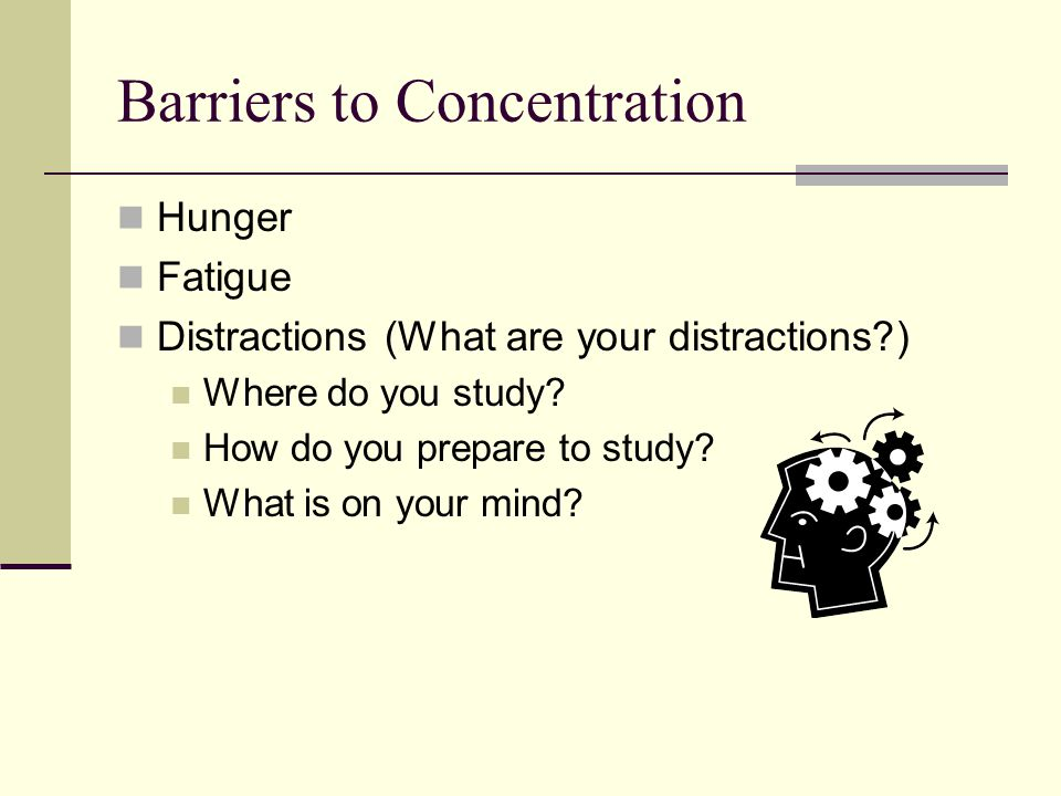 Building Concentration Develop an interest and positive attitude What is one thing you can learn.
