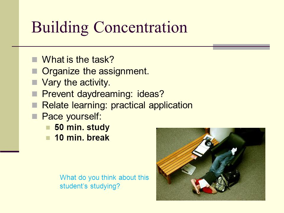 Concentration Cycle 10 min.