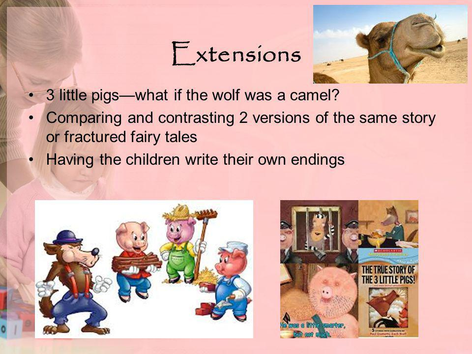 Extensions 3 little pigs—what if the wolf was a camel.