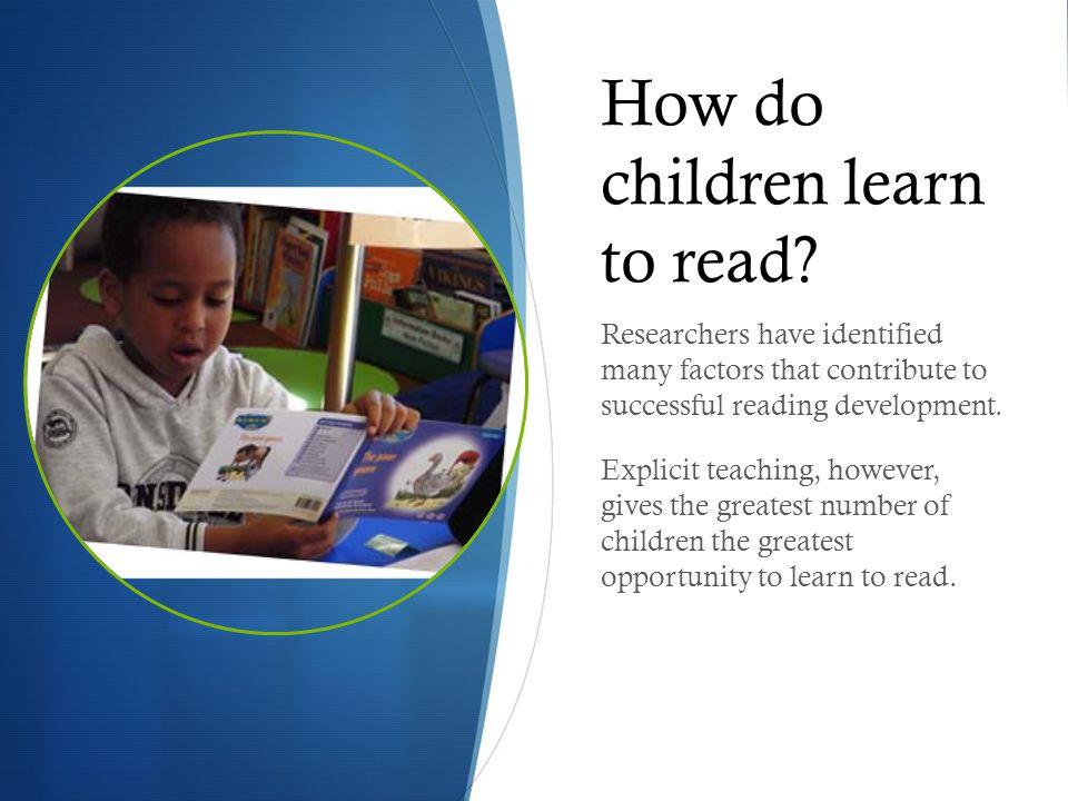 How do children learn to read? Researchers have identified many factors that contribute to successful reading development. Explicit teaching, however,