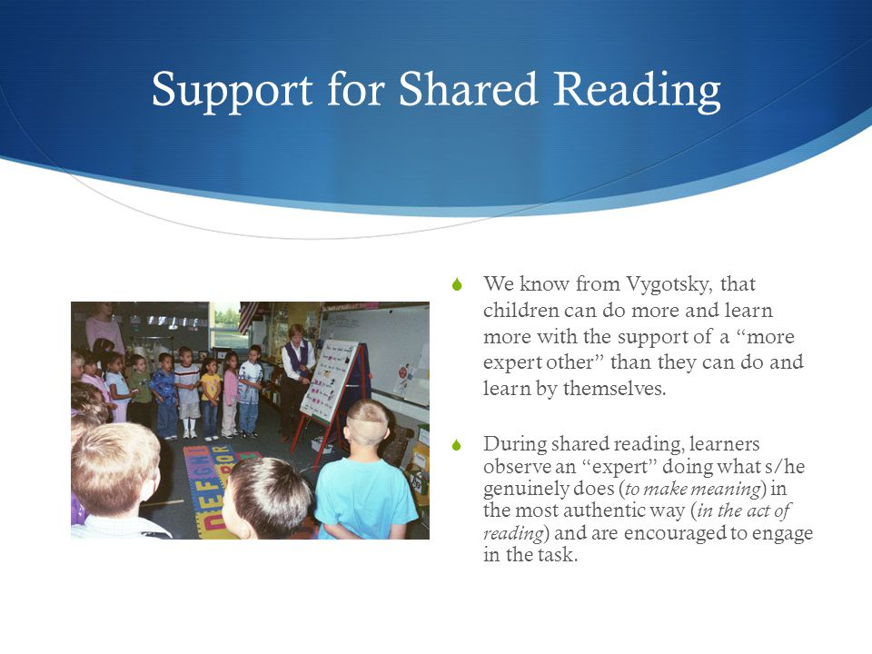 Meeting the Needs of Learners Since LBD's model for shared reading is more like a shared read aloud, you will need to carefully consider how you can adjust lessons to provide shared reading that meets the needs of your learners.