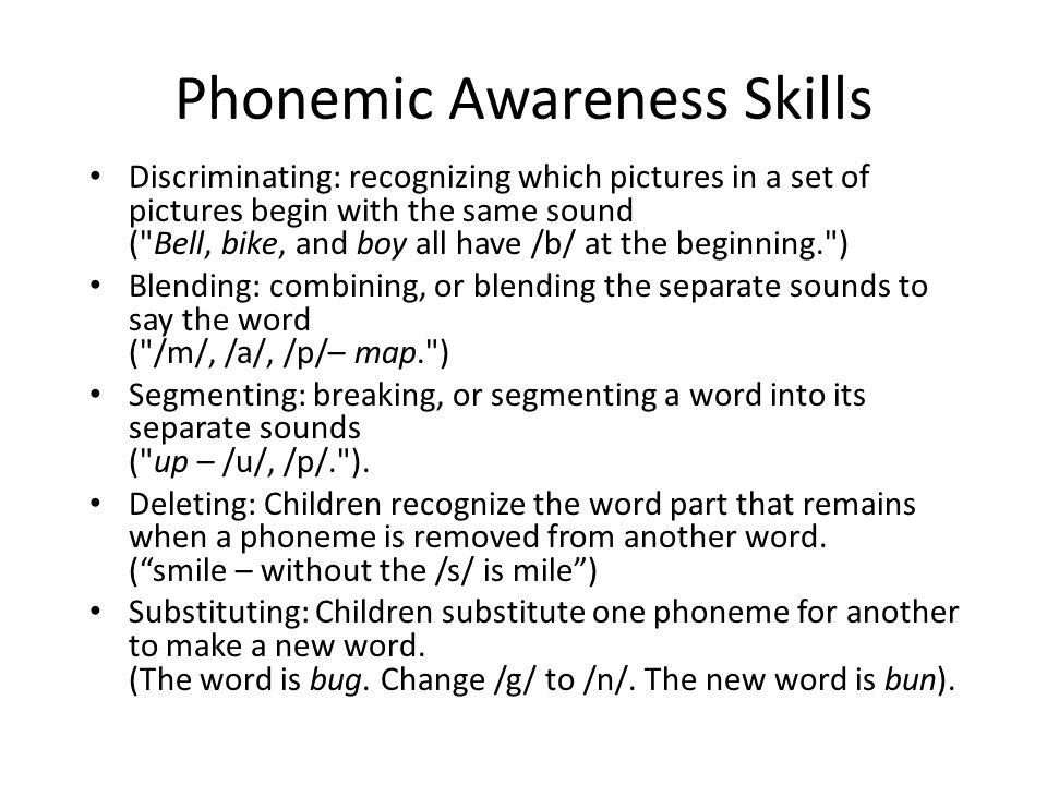 Word Level Syllable Level Onset-Rime Level Phoneme Level PhonologicalAwareness