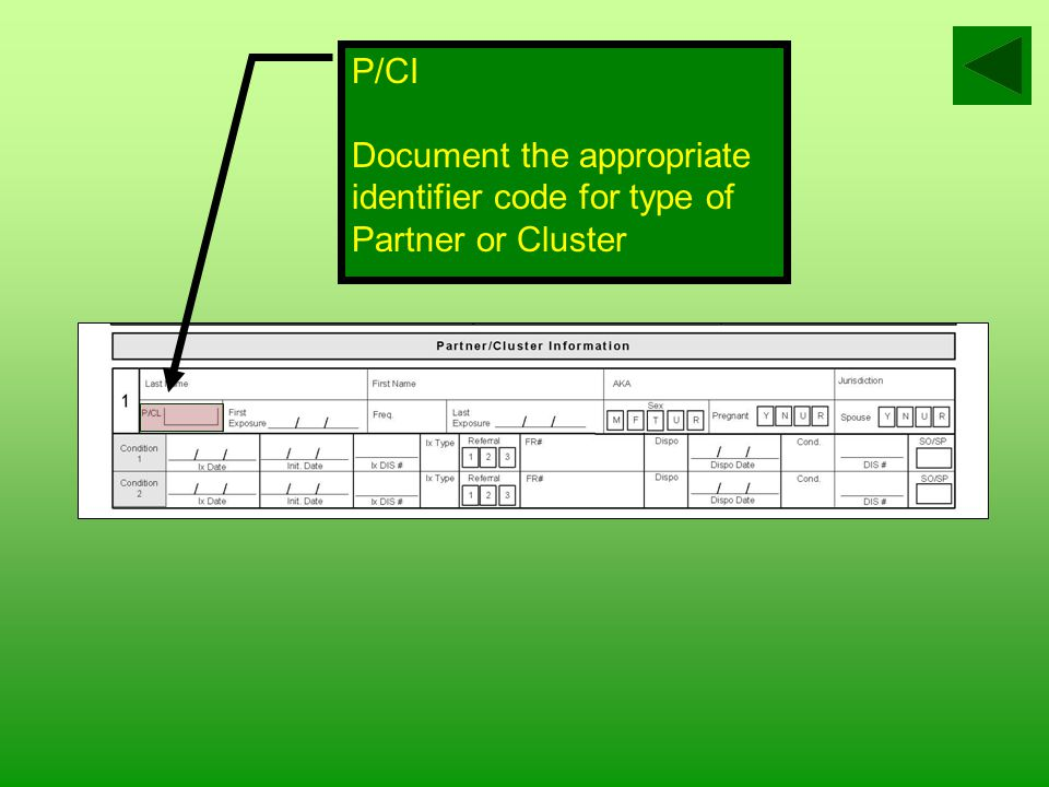 Jurisdiction Document the county, state or county code or name for where the partner/cluster resides