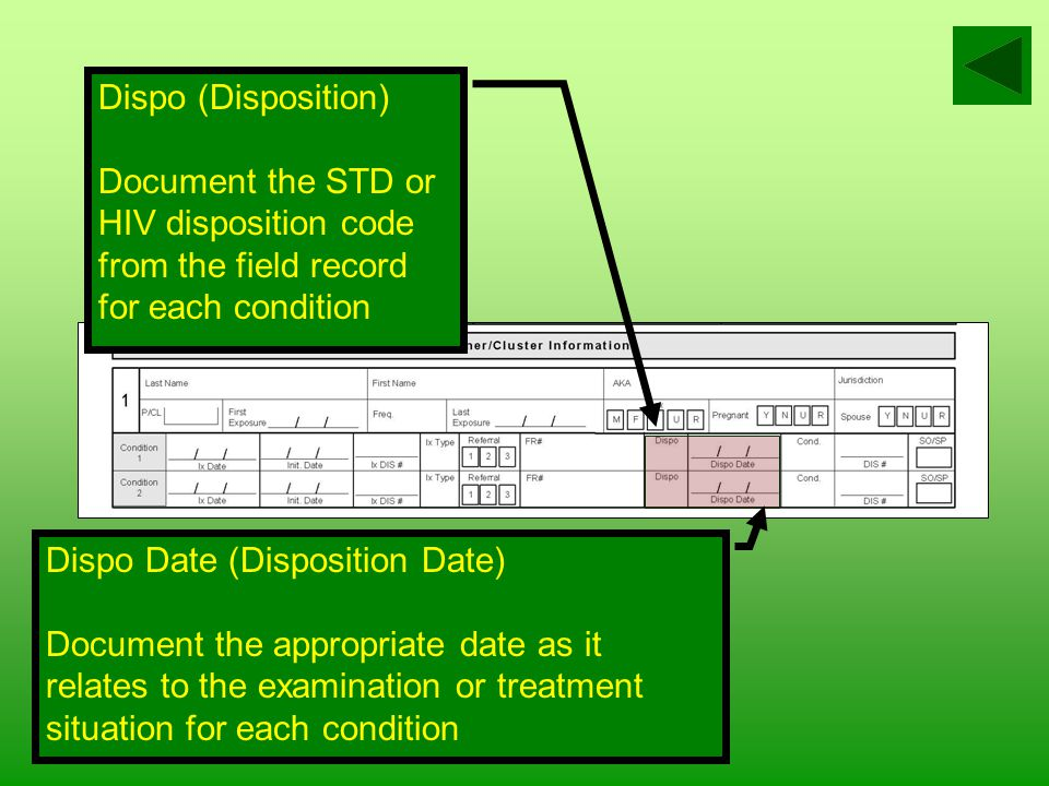 FR # (Field Record Number) Document the entire field record number(s) for the partner/cluster initiated.