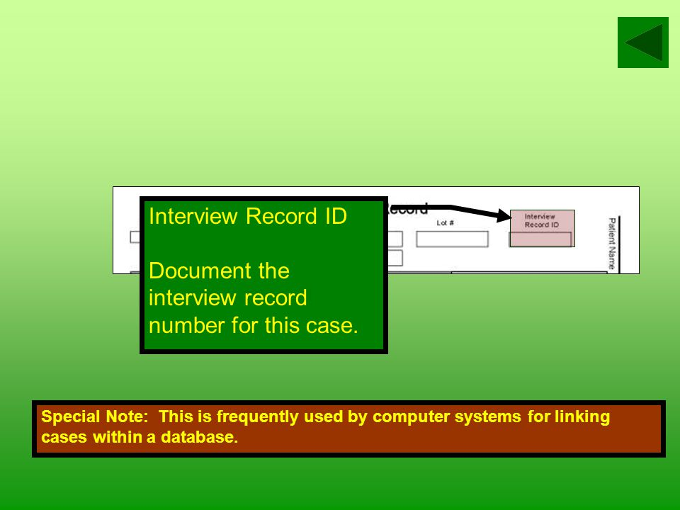 Lot # Locally assigned number utilized by the Lot System in order to group related cases for better case management.