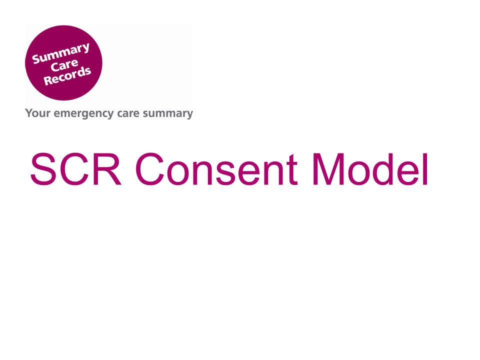 SCR Consent Model