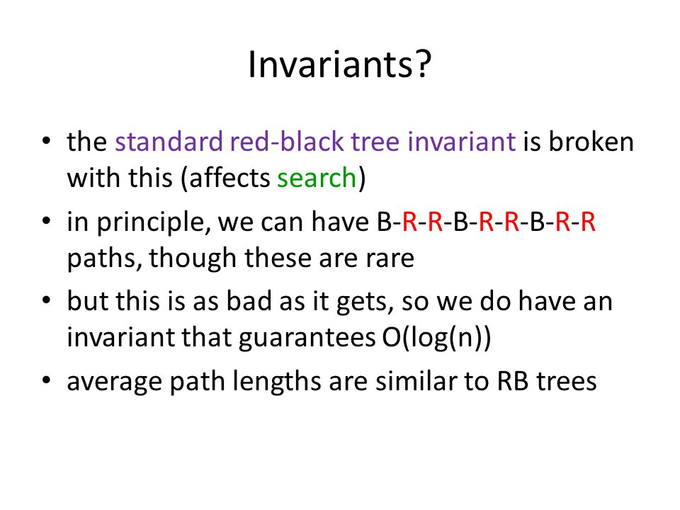 Invariants.