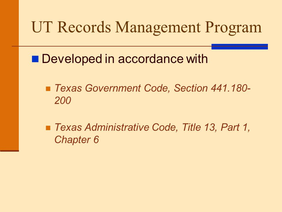 Life of a Record An official state record captures and preserves interactions between official entities and citizens A record must remain available for retrieval from the time it is created till its final disposition The life of an official state record can only end one of two ways: Destruction—in accordance with a documented approval process; records containing confidential information must be destroyed in a manner that preserves confidentiality.
