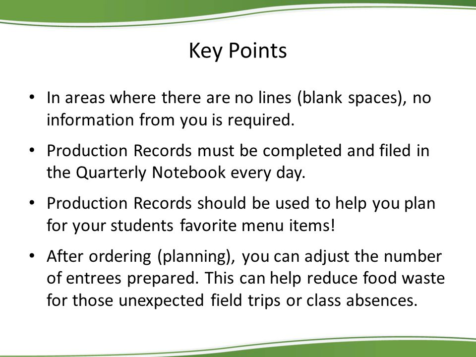 Key Points In areas where there are no lines (blank spaces), no information from you is required.
