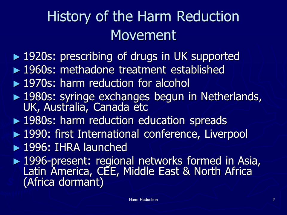 Harm Reduction3 Why a Youth Network.