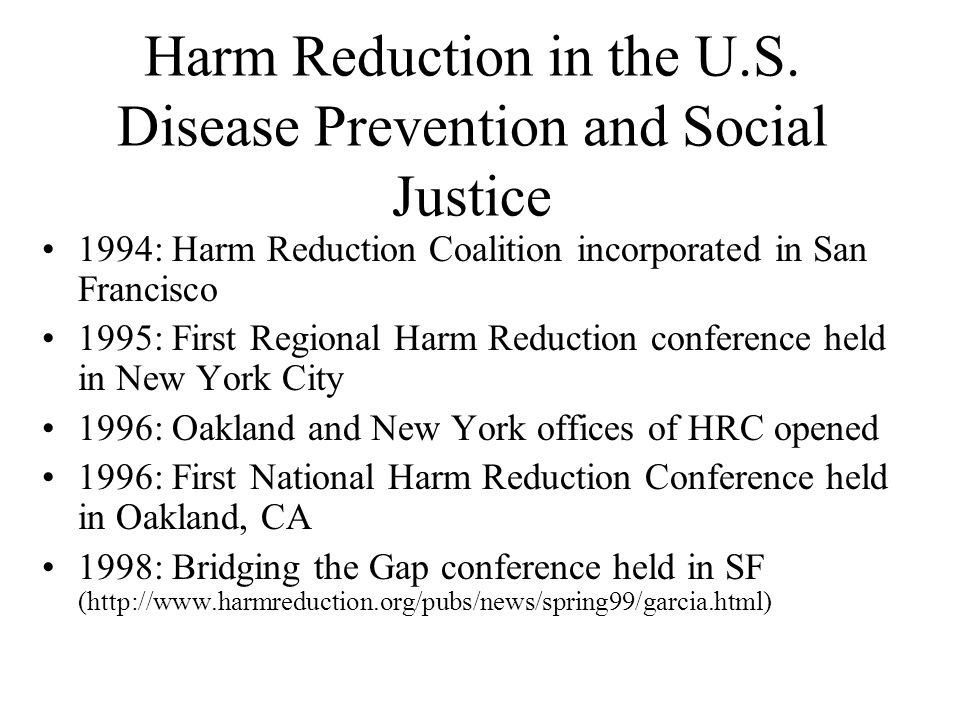 Harm Reduction in the U.S.