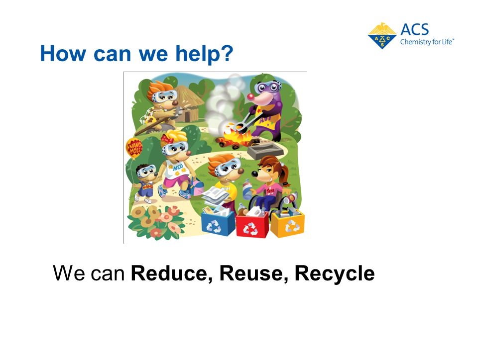 How can we help We can Reduce, Reuse, Recycle